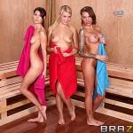 Jenni Lee,Juelz Ventura & Anikka Albrite in Hot And Mean: Hot Sauna Pussy 14